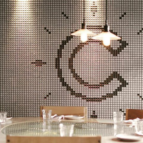 Be #creative with your tiles!  Featuring the Tec Collection. Available in squares and hexagons in three colours. • • #tectiles #yycinteriordesign #yycliving #iconstonetile #tilemosaic #cforcreative #yycdesign #yycdesigner