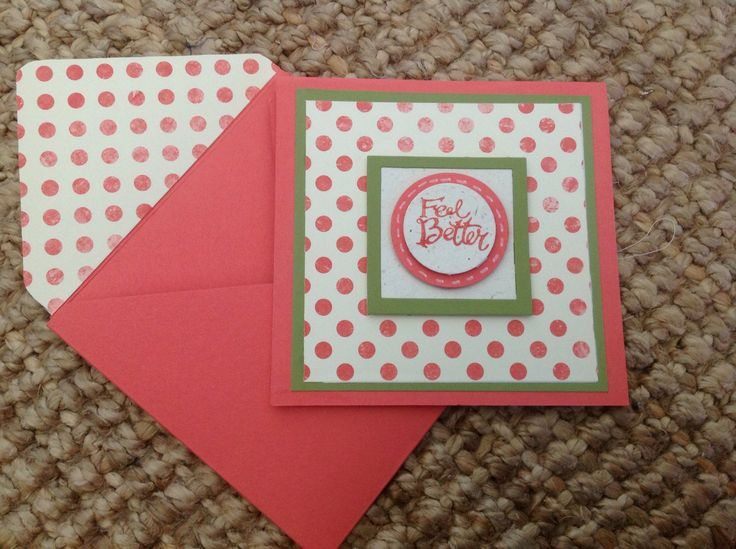Stampin Up - Sassy Salutations, Calypso Coral  and Old Olive Cardstock, DSP Etcetera, Envelop Punch Board.