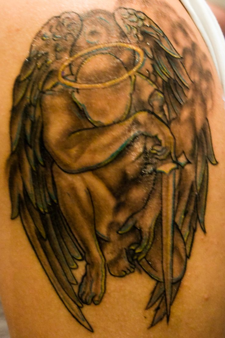 27 best tattoo 39 s images on pinterest angels tattoo angel tattoos for men and mens tattoos. Black Bedroom Furniture Sets. Home Design Ideas