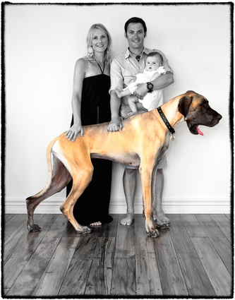 Family Portrait with puppy by Ilan Wittenberg
