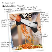 "Gefu Spiral Slicer ""Spirelli"" from Home Outfitters $29.99"