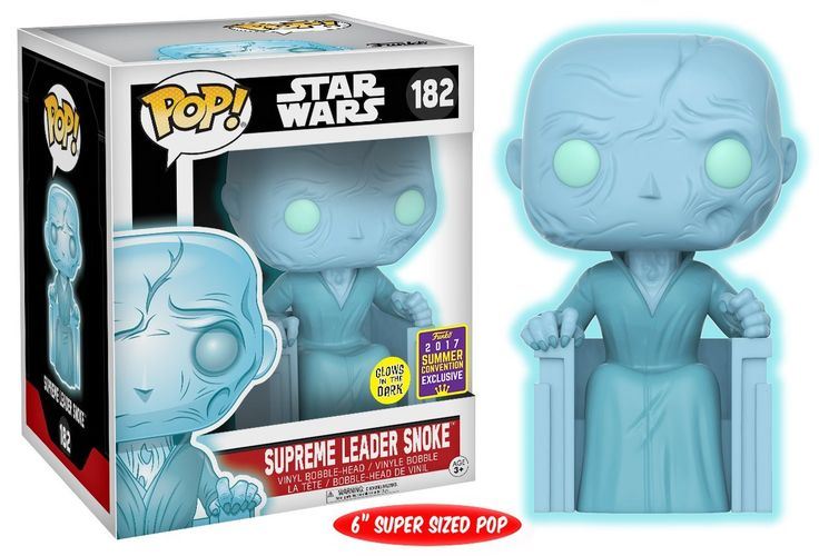 """Amazon.com: Funko Pop Star Wars: Episode 7 the Force Awakens-6"""" Holographic Snoke Collectible Figure - Summer Convention Exclusive: Toys & Games"""