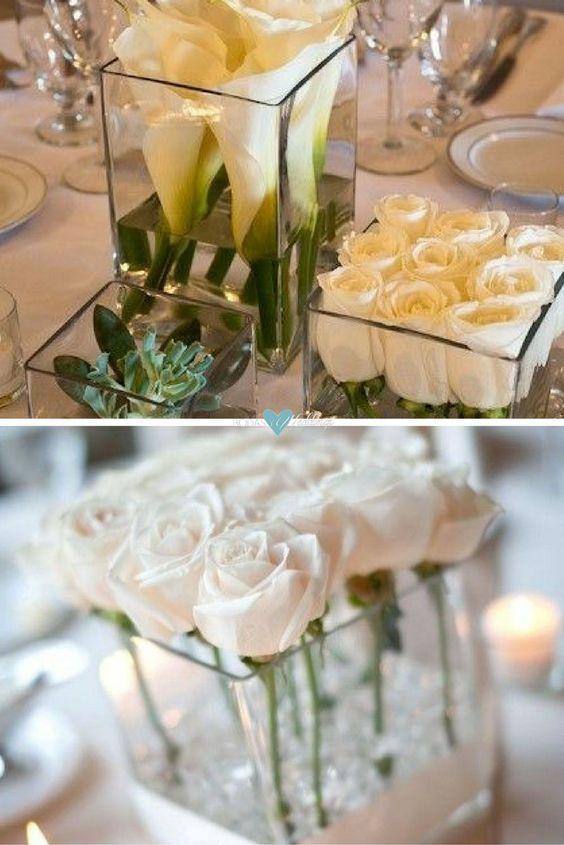 Las 25 mejores ideas sobre florero alto como centro de for Centros navidad para mesa
