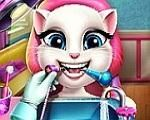 Em Talking Angela no Dentista, Talking Angela comeu muito doces e não escovou os seus dentes, agora ela está com dor de dentes. Ajude nossa amiga Talking Angela ir ao dentista e cuidar de seus dentes. Divirta-se com Talking Angela!