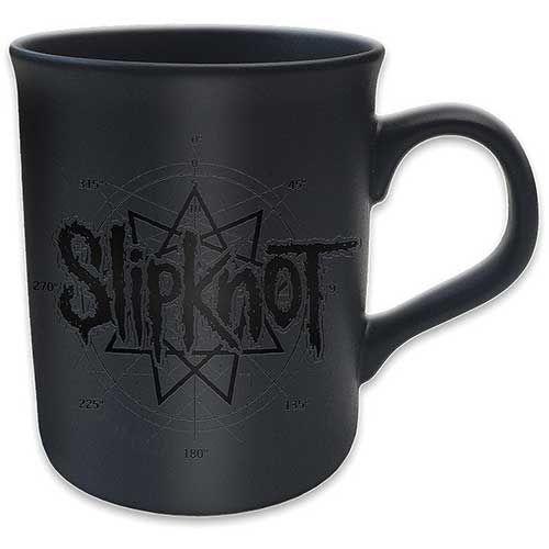 Slipknot Boxed Black Matt Mug: Logo Star Wholesale Ref:SKMUG09