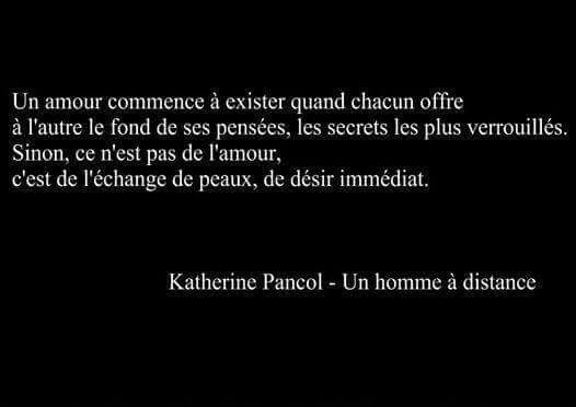 """Katherine Pancol """"Un homme à distance"""""""
