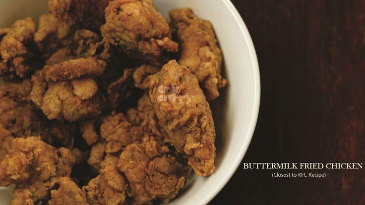 Buttermilk Fried Chicken Recipe   KFC Style Fried Chicken   Try Curry