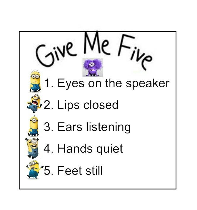 """Minion """"Give Me Five"""" Class Poster Gotta keep my minions in line."""