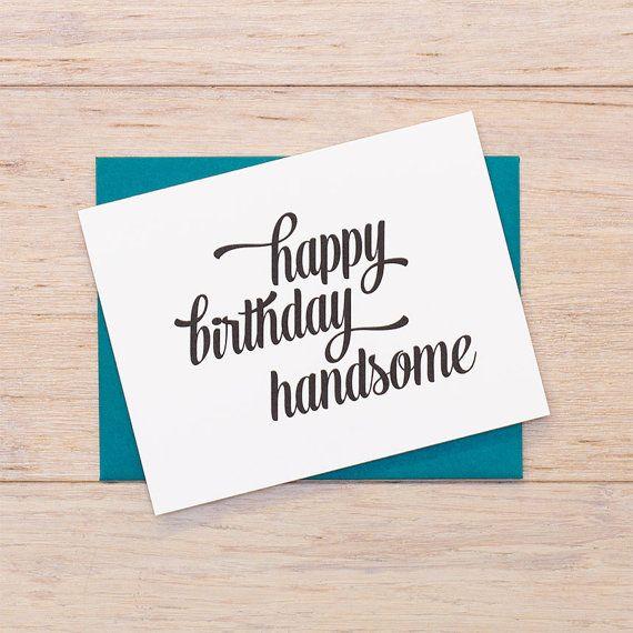 happy birthday handsome on Etsy, $3.00