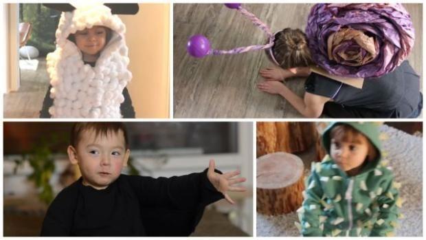 Štyri jednoduché detské kostýmy na maškarný bez šitia - ovečka, slimák, netopier, kaktus, Videopostupy, fotopostup - Artmama.sk