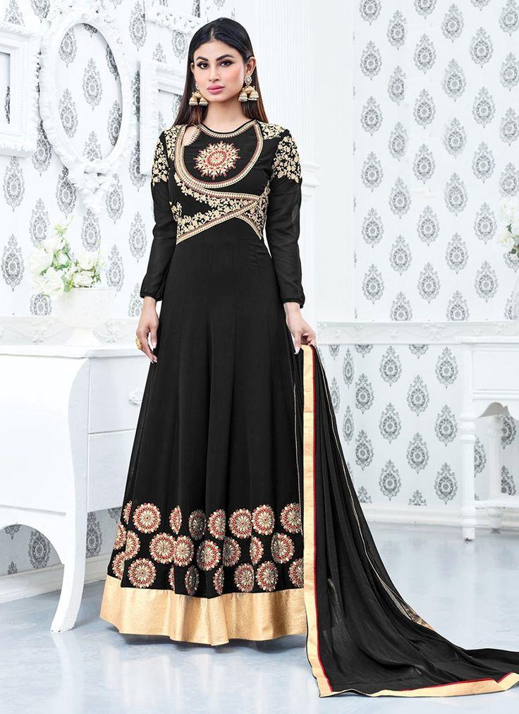 Perfervid Faux Georgette Floor Length Anarkali Salwar Suit