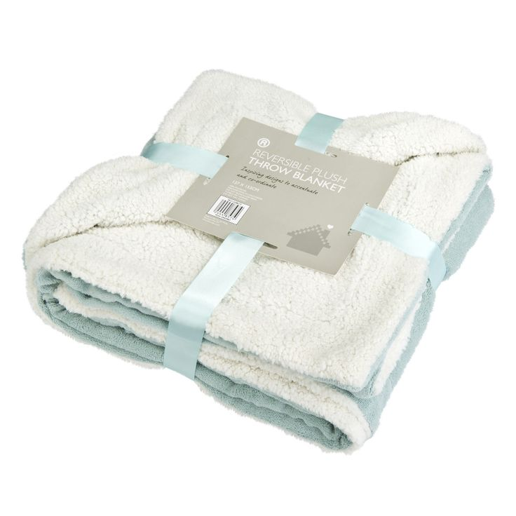 Plush, plump and perfect for snuggling with in your favourite comfy spot, this sumptuous reversible Sherpa throw has an extra dimension of comfort, with a smooth, soft duck egg blue side and a thick, warm fleece-like side for the ultimate luxury. The reversible Sherpa throw is also available in natural. Product Components One reversible throw