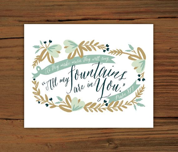 Psalm 87:7 8x10 Poster Print