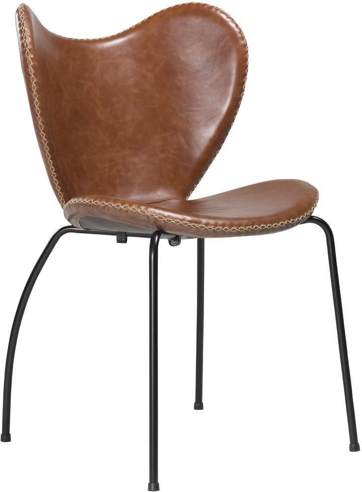 Butterfly stol - Ljusbrun l�der / svart - 4195kr - Trendrum.se