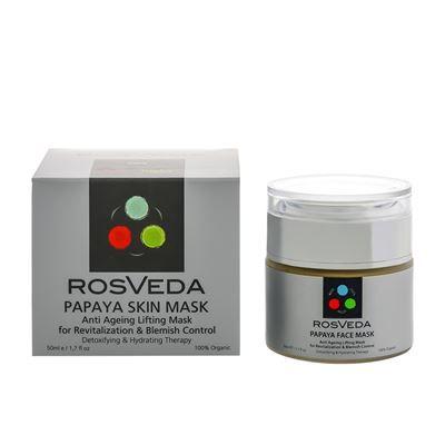 Rosveda - Λευκαντική Μάσκα Προσώπου με Παπάγια & Αβοκάντο 50ml    Τα εκχυλίσματα Papaya και Βερίκοκου που περιέχει, βοηθούν στην θεραπεία πανάδων, σκούρων κηλίδων, ανομοιομορφίας και δυσχρωμίας.  Σταματά την ανεπιθύμητη τριχοφυΐα, ενυδατώνει και χαρίζει λάμψη στο δέρμα.  Ενυδατώνει, απαλύνει, αναδομεί και φωτίζει τα κουρασμένα και θαμπά δέρματα, χαρίζοντας ξεκούραστη όψη.  WWW.ORGANICBRANDS.GR