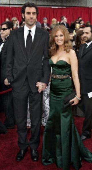 Sasha Baron Cohen (Jewish) and Isla Fisher (no faith) #celebrity #couple