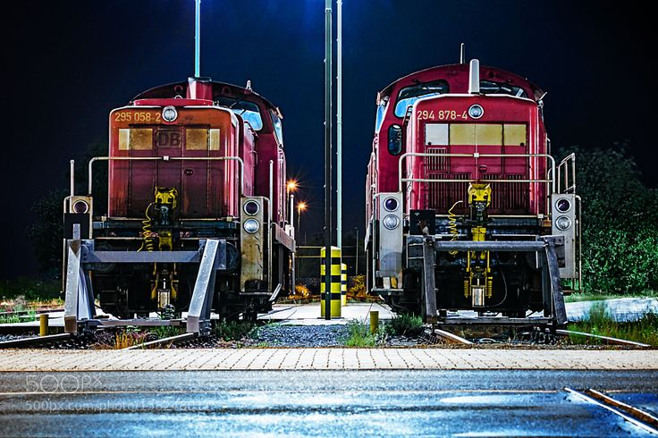 Trains at harbour waiting for usage by Stefan_Herrmann