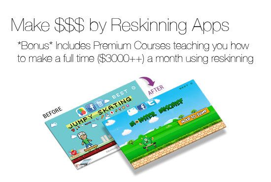 The complete pack for app reskinning. Learn how to make thousands reskinning app and with this complete packs, you get hundreds of premium app source code, game graphic assets and sound fx. Get my fiverr gig now! https://www.fiverr.com/sarahchang/give-you-400-android-ios-unity-source-code-within-24hrs