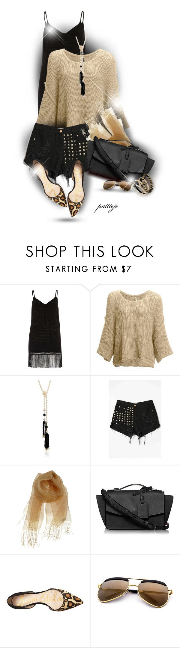 """""""Double Take"""" by rockreborn ❤ liked on Polyvore featuring River Island, Free People, Ross-Simons, WithChic, Gregory Ladner, Reed Krakoff, Sam Edelman and Miss Selfridge"""