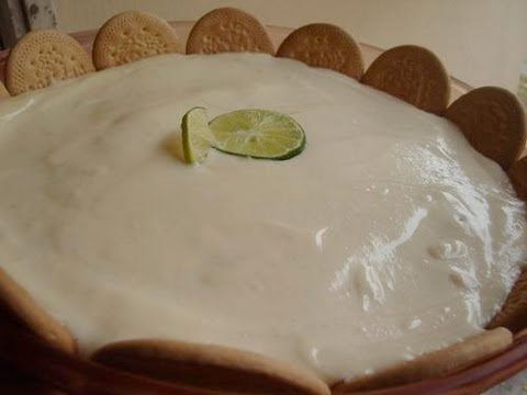 Como hacer pastel carlota o pastel de limon helado - YouTube