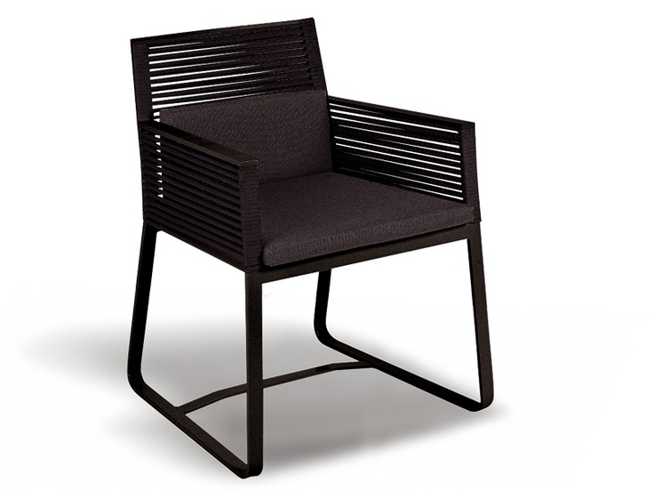 Sled base chair with armrests LANDSCAPE | Chair - KETTAL