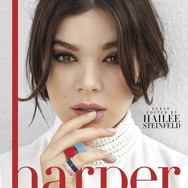 Introducing our newest #harperbyHarpersBazaar cover girl & guest editor, @HaileeSteinfeld! Go to the link in our bio to find out who her style icon is, and see her spring fashion shoot. Photo by @MonaKuhnStudio Styling by @JessicadeRuiter Interview by @RomyOltuski Editor @laurabrown99 #stylish #instafashion #outfit #dress