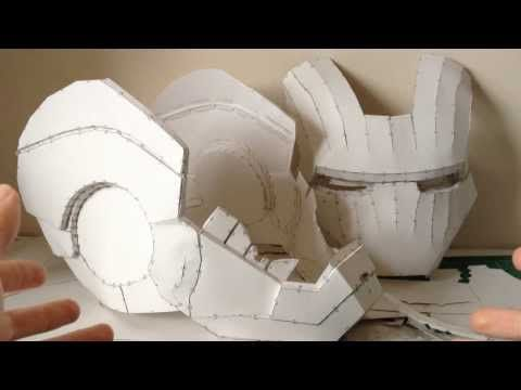 Iron Man helmet Pepakura tutorial Part 1 (software, scaling, printing and building) - YouTube