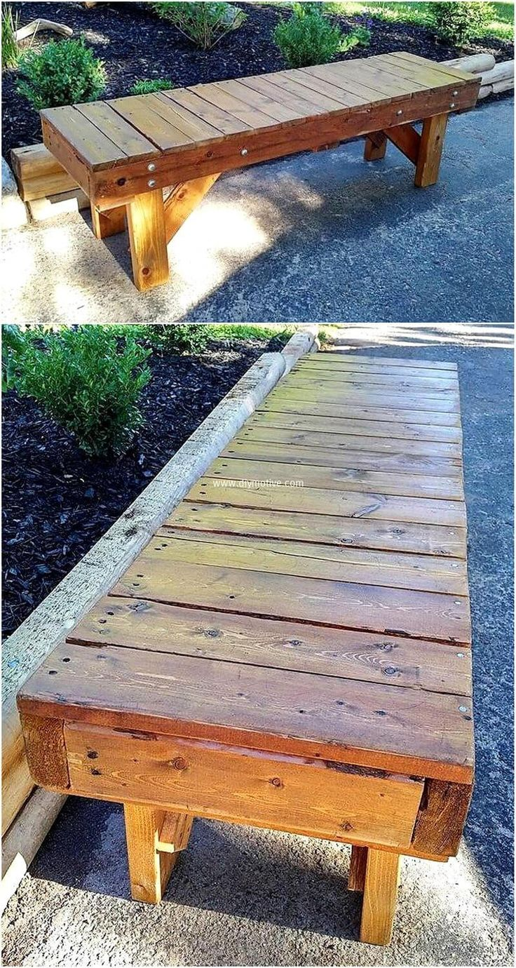 best 25 wooden garden benches ideas on pinterest wooden. Black Bedroom Furniture Sets. Home Design Ideas