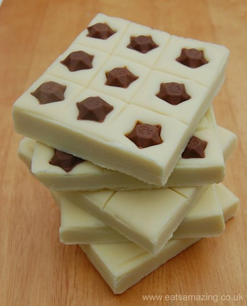 2 Ingredient 5 minute super simple fudge recipe from Eats Amazing UK - with loads of different flavour combination ideas