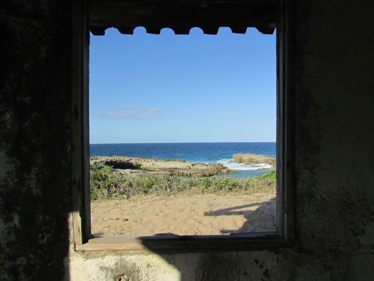 Beautiful view through the window of and abandoned hotel...@thebeach Monique♥♥♥