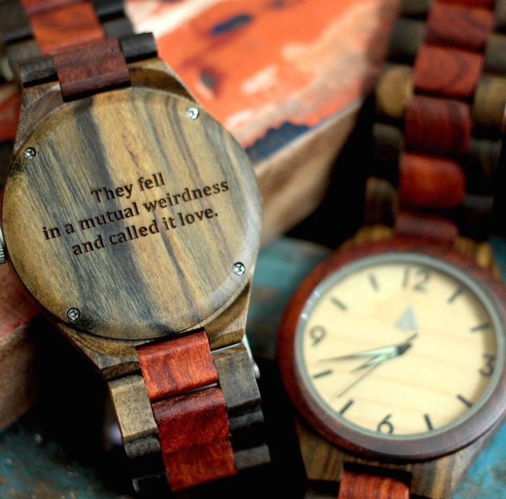 Tree hut co personalized wooden watch ❤️