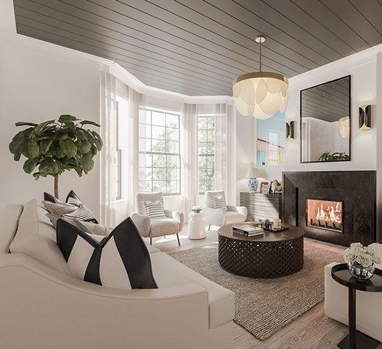 Carefree Chic from Tamaryn White Studio #pinoftheday #interiordesign #luxury #livingroom #sofa #lighting #art #rugs