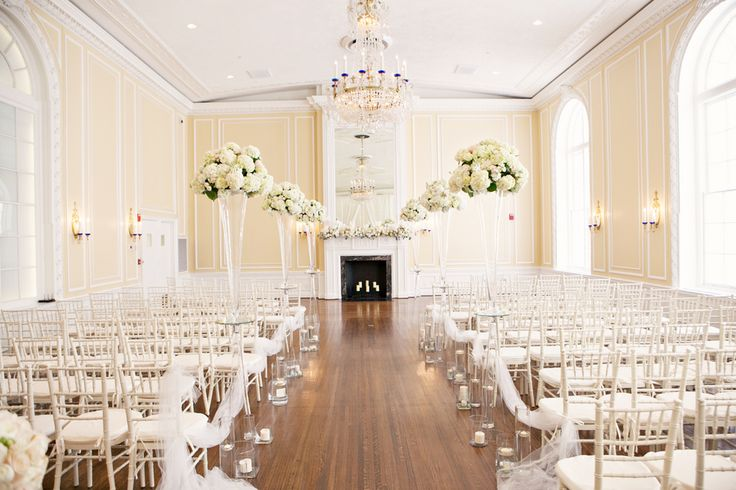 White wedding at the Patrick Henry Ballroom; Tall ...