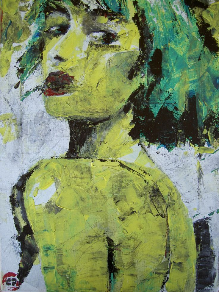 Figure 01 (30 x 21, acrylis on canvas using palette knife)