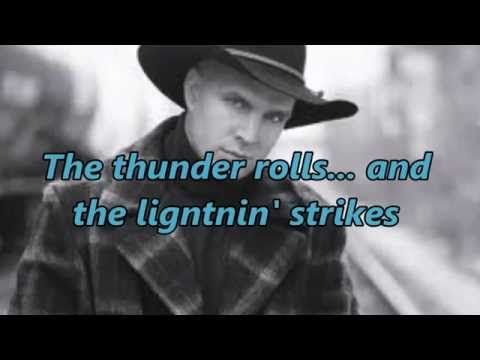Garth Brooks - The Thunder Rolls (With Lyrics And Pics) - YouTube