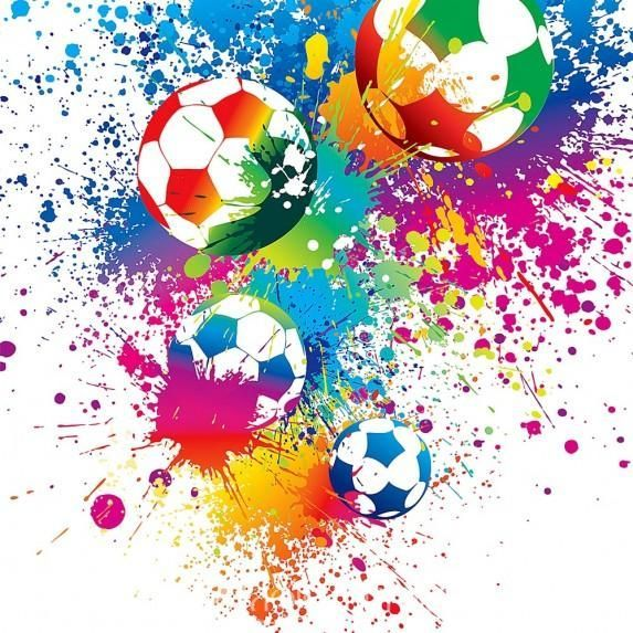 Splatter Soccer Decoracionesrosadasdelpartido Soccer Splatter En 2020 Carteles De Futbol Poster De Futbol Pelota De Futbol