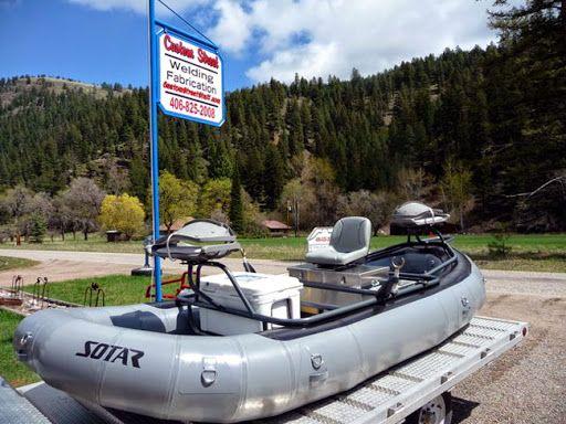 Custom aluminum fishing raft frames by barney conrad at for Fly fishing raft