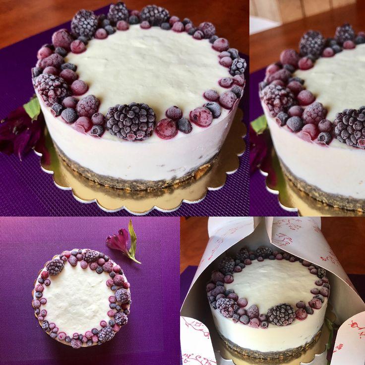 Cake Cheesecake Mascarpone Vanilla Orange essences  Biscuit crust  Forest fruit Tasty