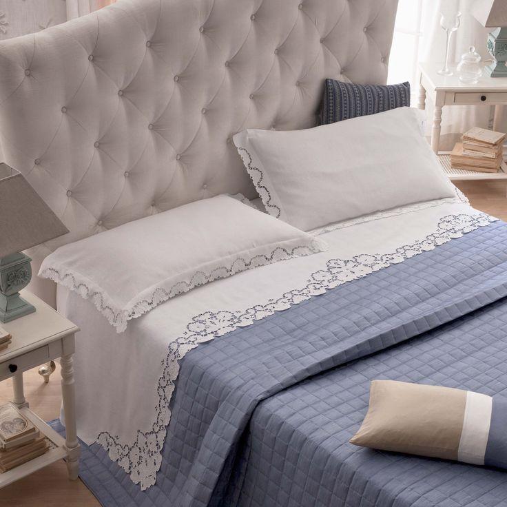 Lino disegnato per parure letto, intaglio