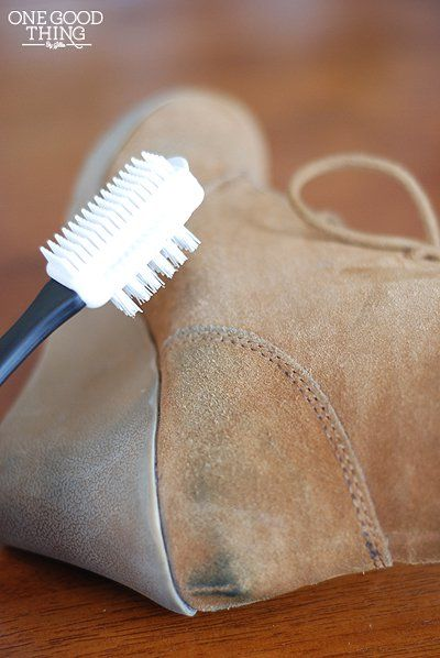Cleaning Suede  - with vinegar