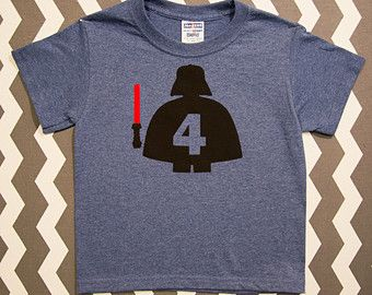 Darth Vader Shirt, Lego Darth Vader Shirt, Birthday Shirt, Star Wars Shirt, Custom Made Applique, You Customize NO NAME
