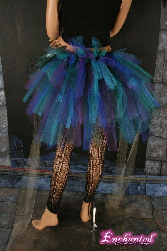 peacock tutu. I wish it was socially acceptable to wear tutu's because I so would. Maybe I just might do it who gives a crap.