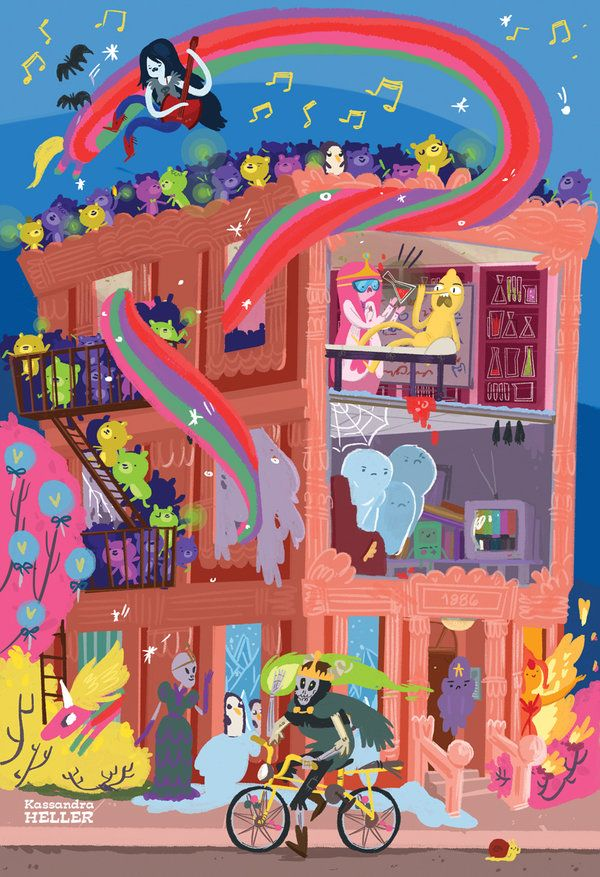 Apartment in the Land of Ooo by *KassandraHeller on deviantART