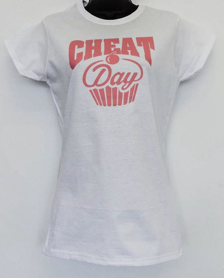 cheat day women's fitness t-shirt by CollectionUnique on Etsy
