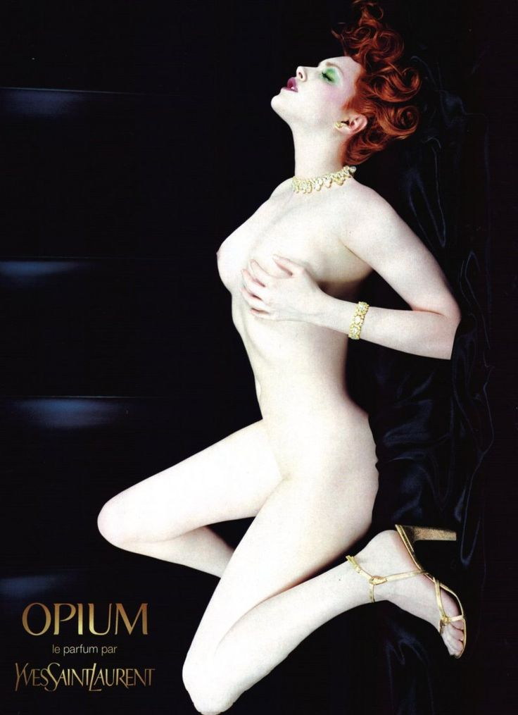 Perfumes Fetiche. YSL Opium. The photo that made Sophie Dahl a household name...just a shame they photoshopped her.