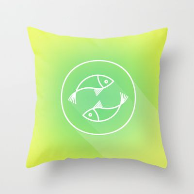 Icon No.3. Throw Pillow by chobopop - $20.00