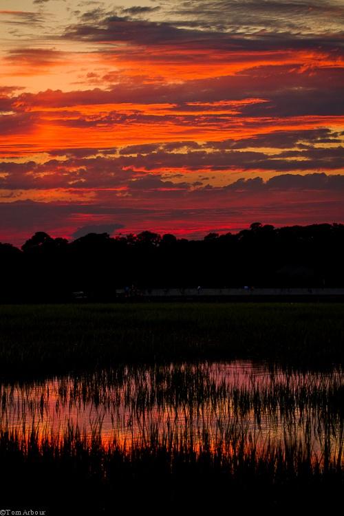 Salt marsh at sunset on Pawley's Island, S.C. Favorite ...