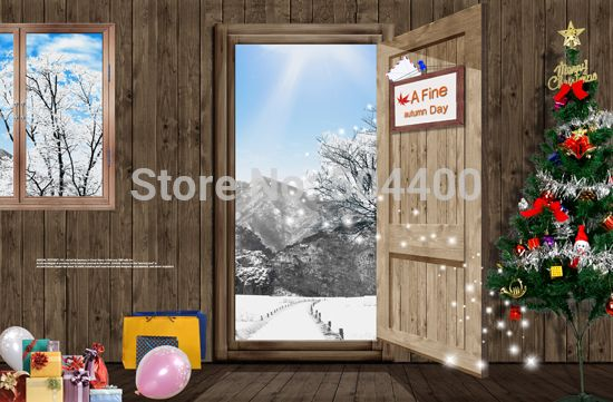 5x10ft Newborn Custom Photography Backdrops Prop Digital Printed Christmas day Photo Studio Background XT-2800