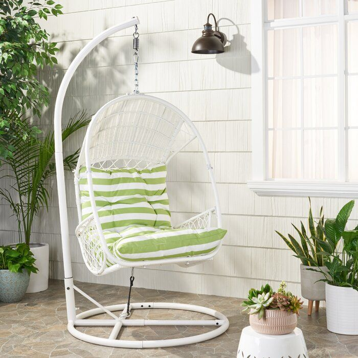 Berkshire Swing Chair With Stand Swinging Chair Hanging Chair Outdoor White Cushions