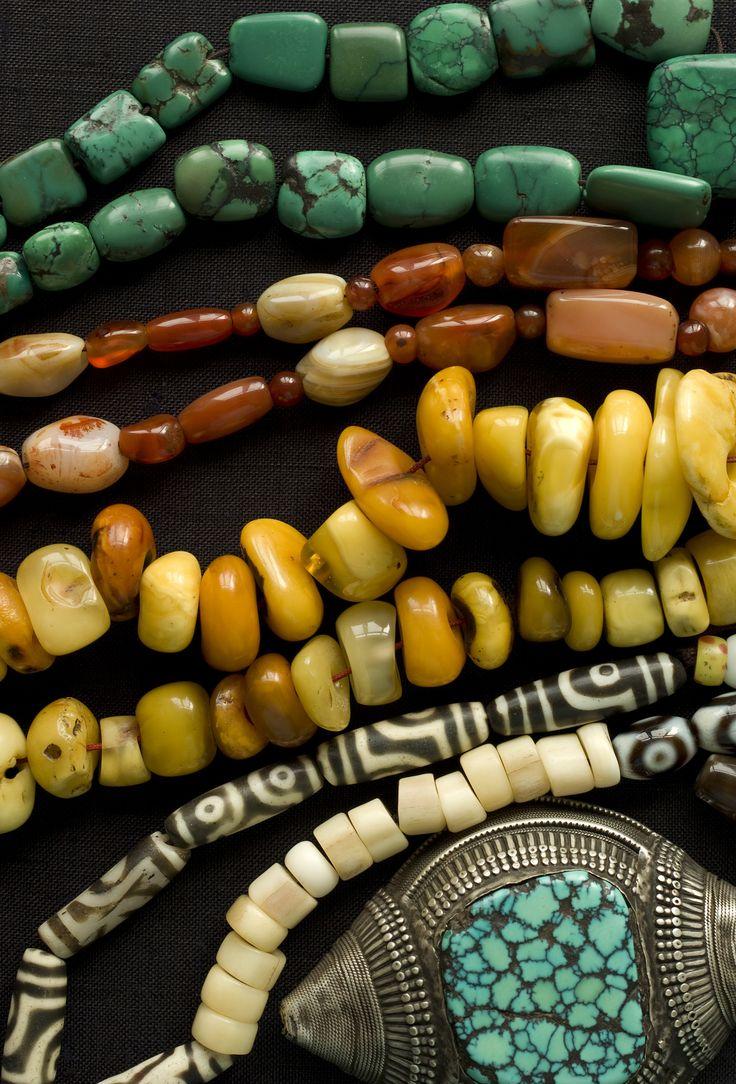 Tibetan Jewelry  -- love all these beads